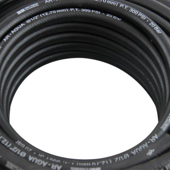 Mangueira Preta para Ar ou Água 1/2 Pol. - Rolo com 20 m - Imagem zoom