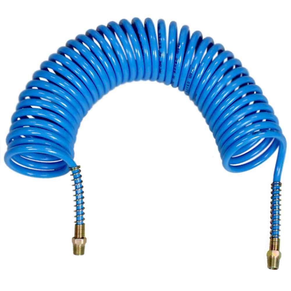 Mangueira Espiral  em PU Azul 7,70 Metros - 1/4 Pol. NPT - Imagem zoom