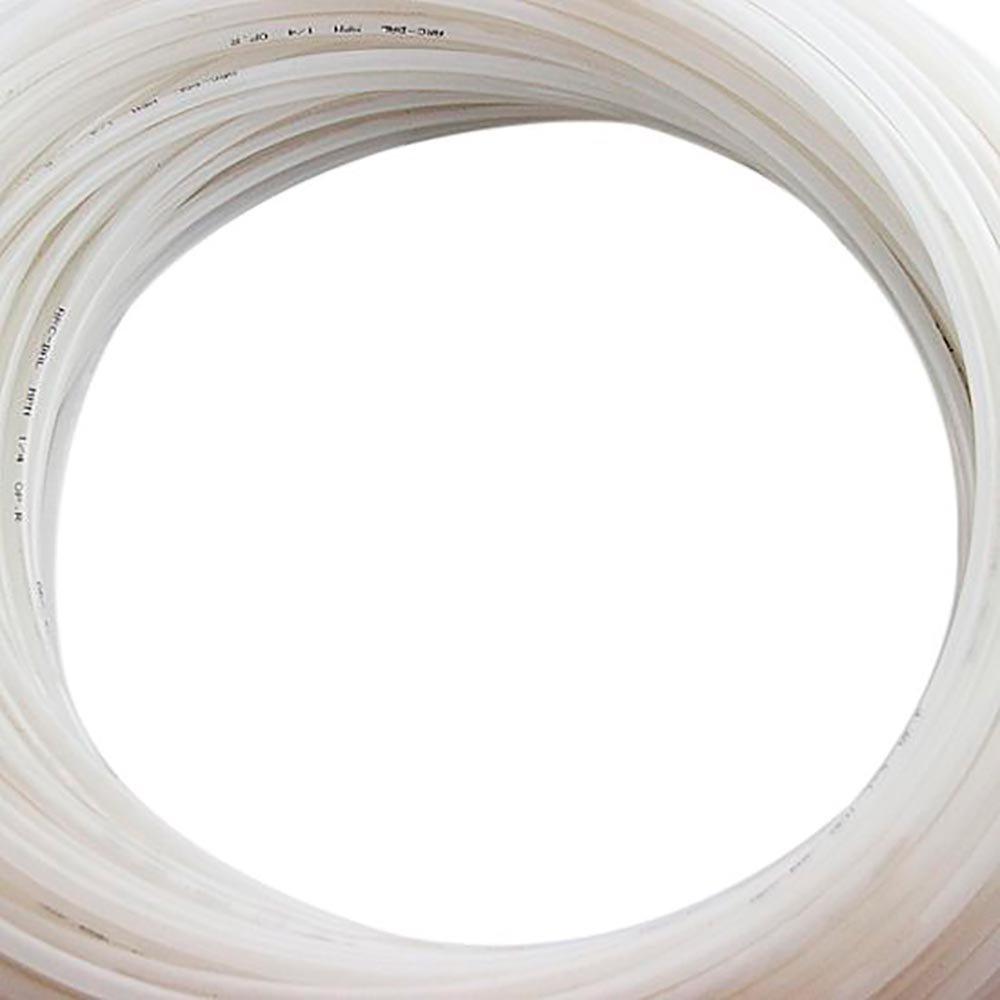 Rolo de Mangueira 1/4 Pol. em Polietileno Branca com 50 Metros - Imagem zoom