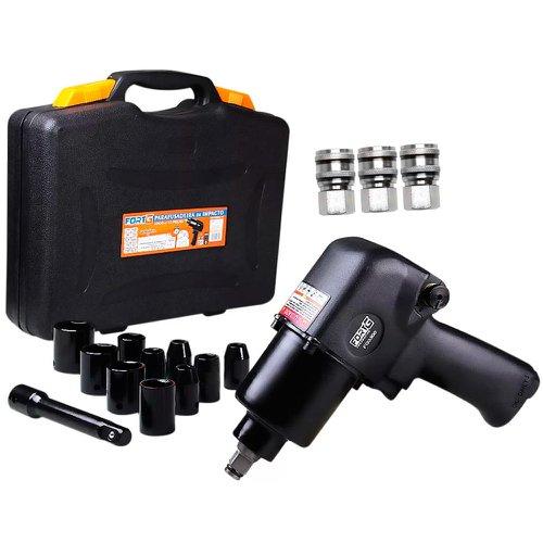 kit chave de impacto 1/2 pol. fg3300 com acessórios + 3 x engate rápido fêmea 1/2 pol.