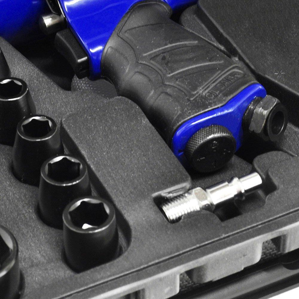 Kit Chave de Impacto Pneumática 1/2 Pol. 7000RPM com Maleta e 14 Acessórios - Imagem zoom