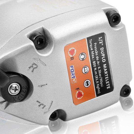 Chave Parafusadeira de Impacto de 1/2 Pol. - 81.6 Kgfm  7.500 RPM - Imagem zoom