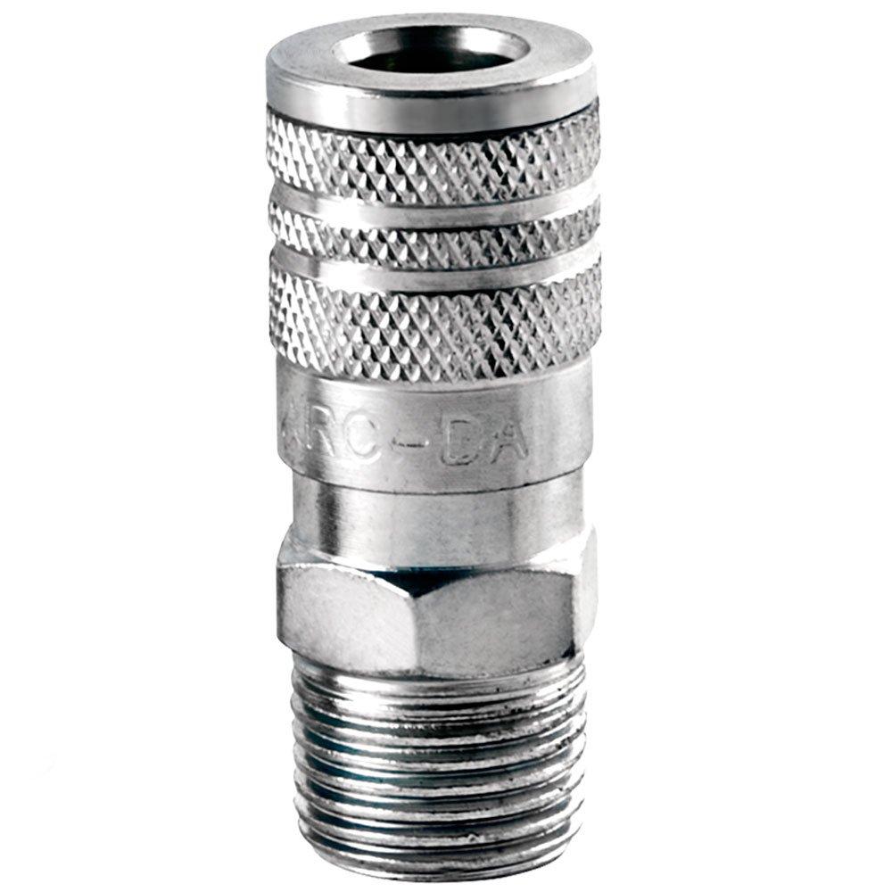 Engate Rápido Zincado com Rosca Macho de 1/2 Pol. BSP com 02 Adaptadores - Imagem zoom