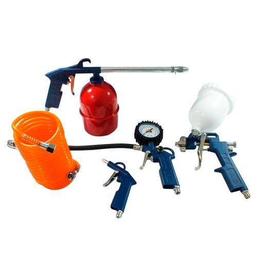 kit pistola para compressor de ar com 5 peças