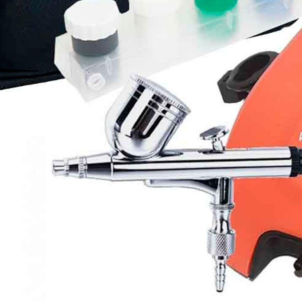 Kit Aerógrafo com Compressor 12W Bivolt e 6 Tintas - Imagem zoom