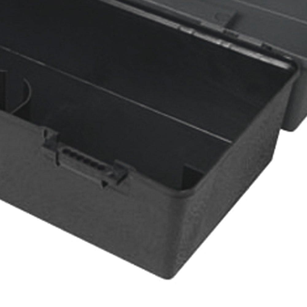 Caixa Multiuso Plástica Preta 420 x 220mm - Imagem zoom