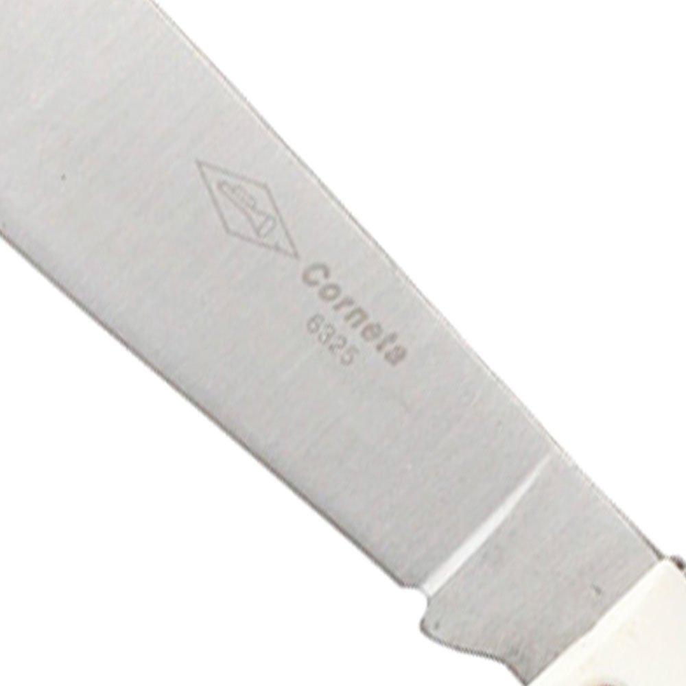 Canivete Lâmina Larga Cabo Branco e Preto - Imagem zoom