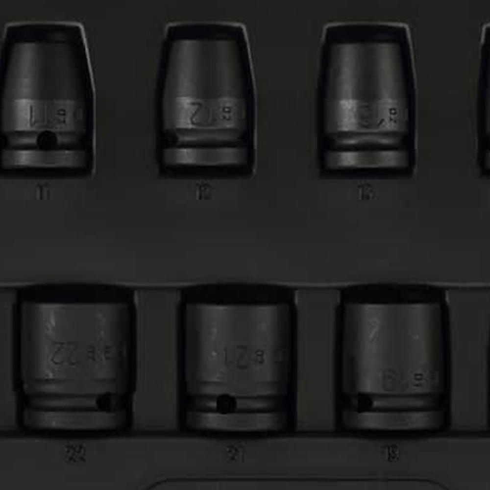 Jogo de Soquete de Impacto Cr-Mo 10-24mm com 12 Peças - Imagem zoom