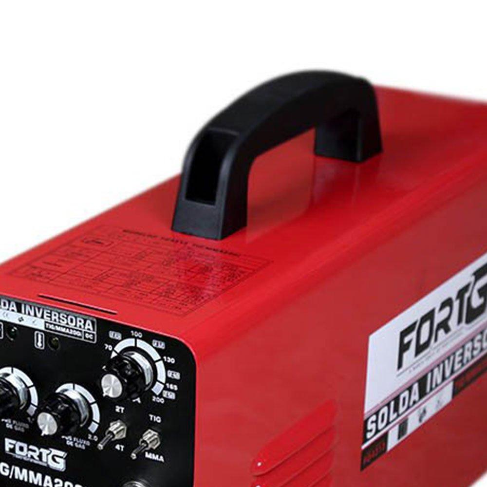 Kit Máquina de Solda Multifuncional FORTGPRO-FG4313 200A Bivolt + Máscara de Solda com Escurecimento Automático - Imagem zoom