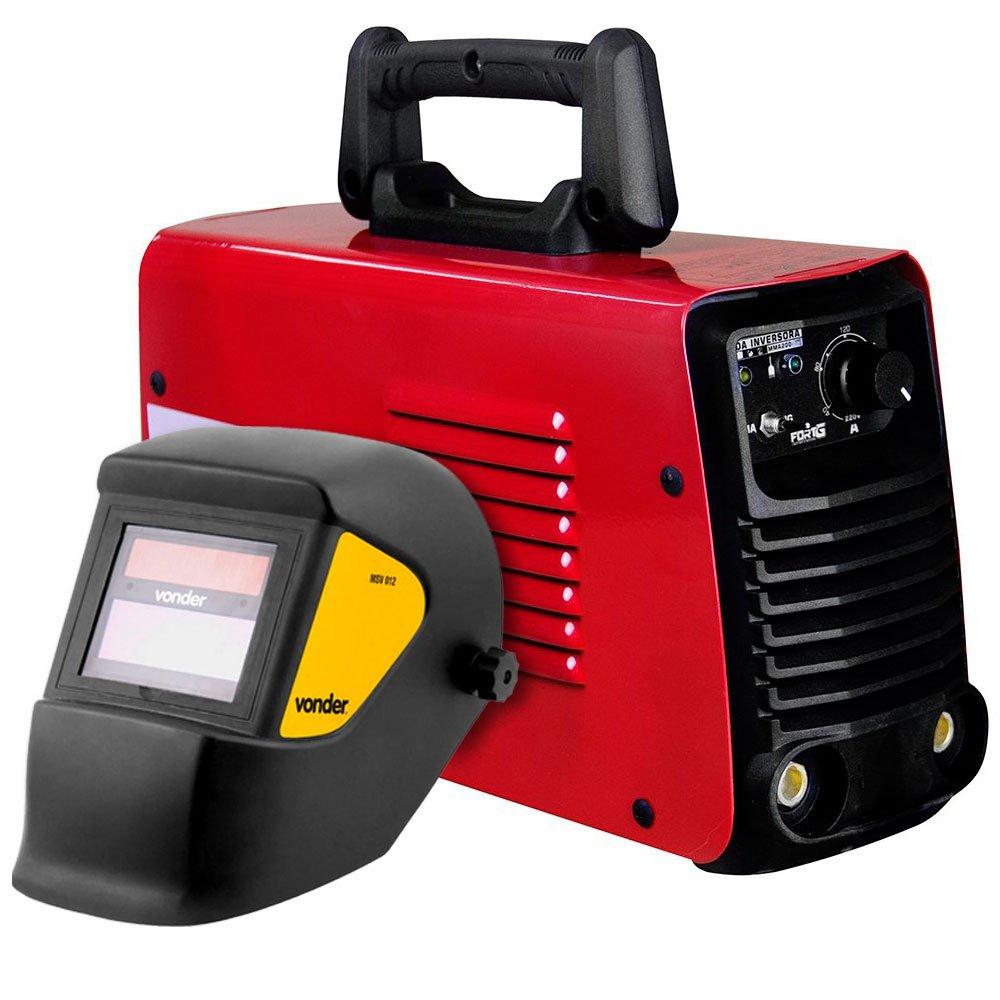 Kit Máquina de Solda FORTGPRO-FG4123 Multifuncional Bivolt + Máscara de Solda com Escurecimento Automático - Imagem zoom