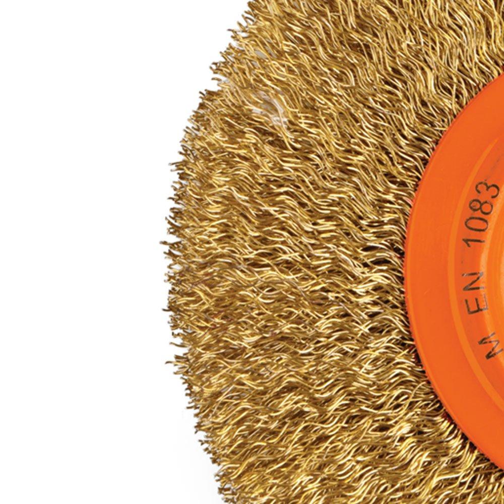 Escova Circular Arame Ondulado Latonado 6 x 1 Pol. - Imagem zoom