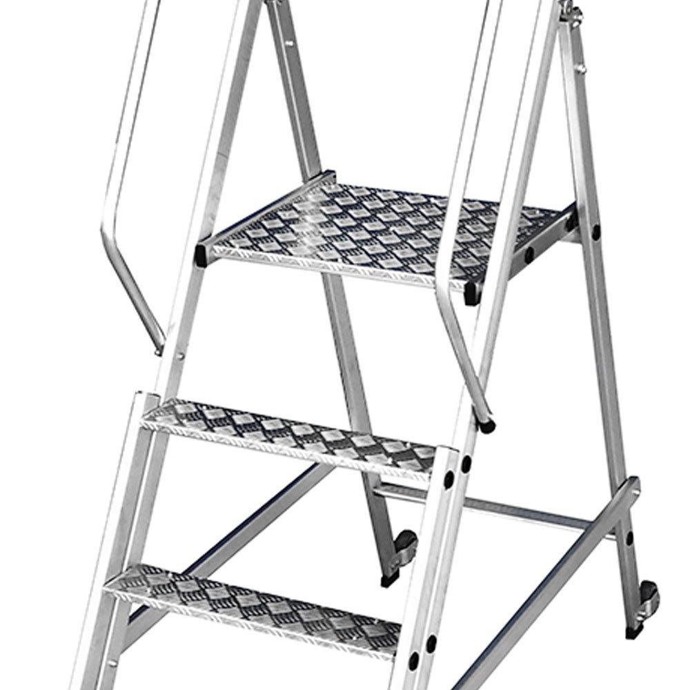 Escada Plataforma Podium Dobrável 3 Degraus 250Kg - Imagem zoom