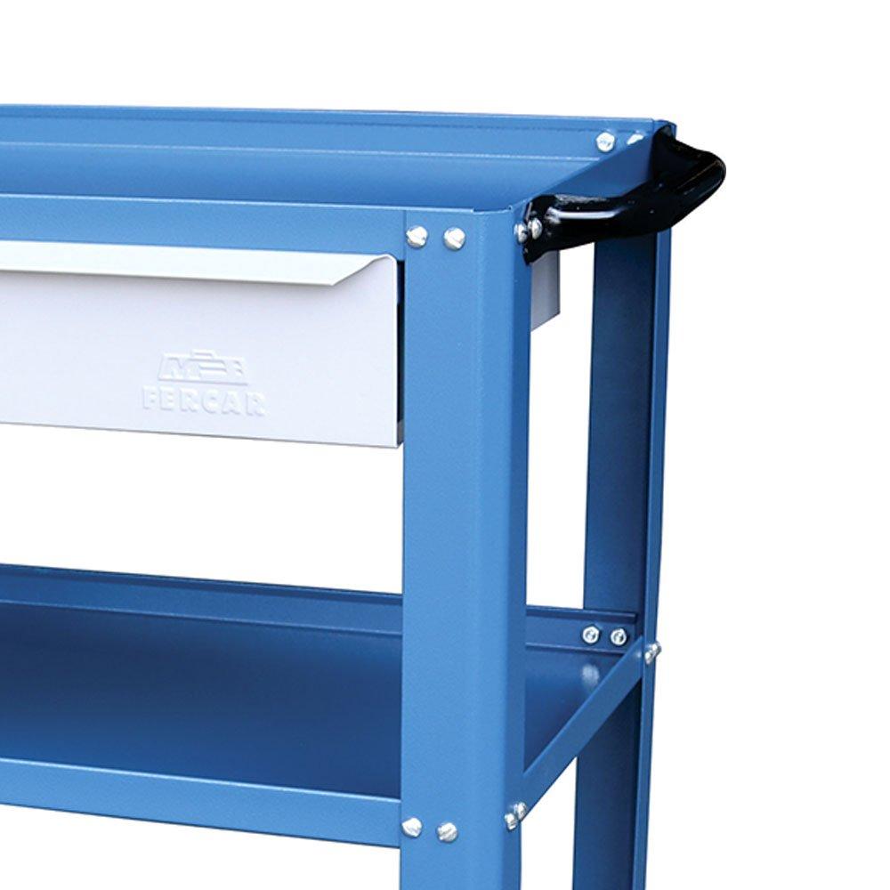 Carrinho Desmontável Aberto Azul com 1 Gaveta - Imagem zoom