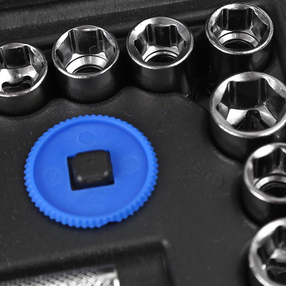 Jogo de Soquete Sextavado 1/4 e 3/8 Pol. com Catraca 40 Peças - Imagem zoom