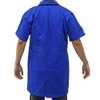 Jaleco Industrial Brim Pesado Azul Manga Curta G com Bordado - Imagem 2