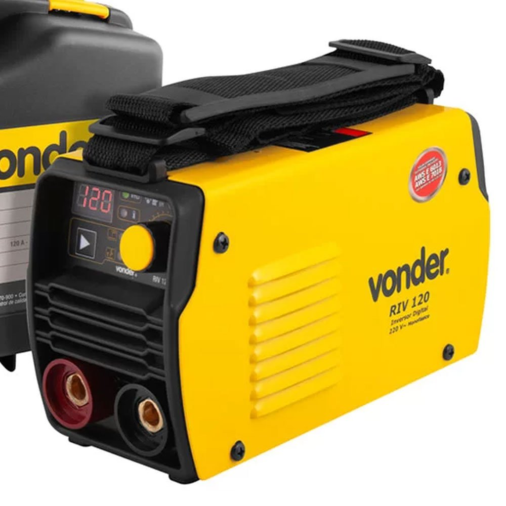 Kit Máquina de Solda Inversora Vonder 6878120220 RIV 120A 220V + Eletrodo UTP 31398 2,0mm 1Kg - Imagem zoom