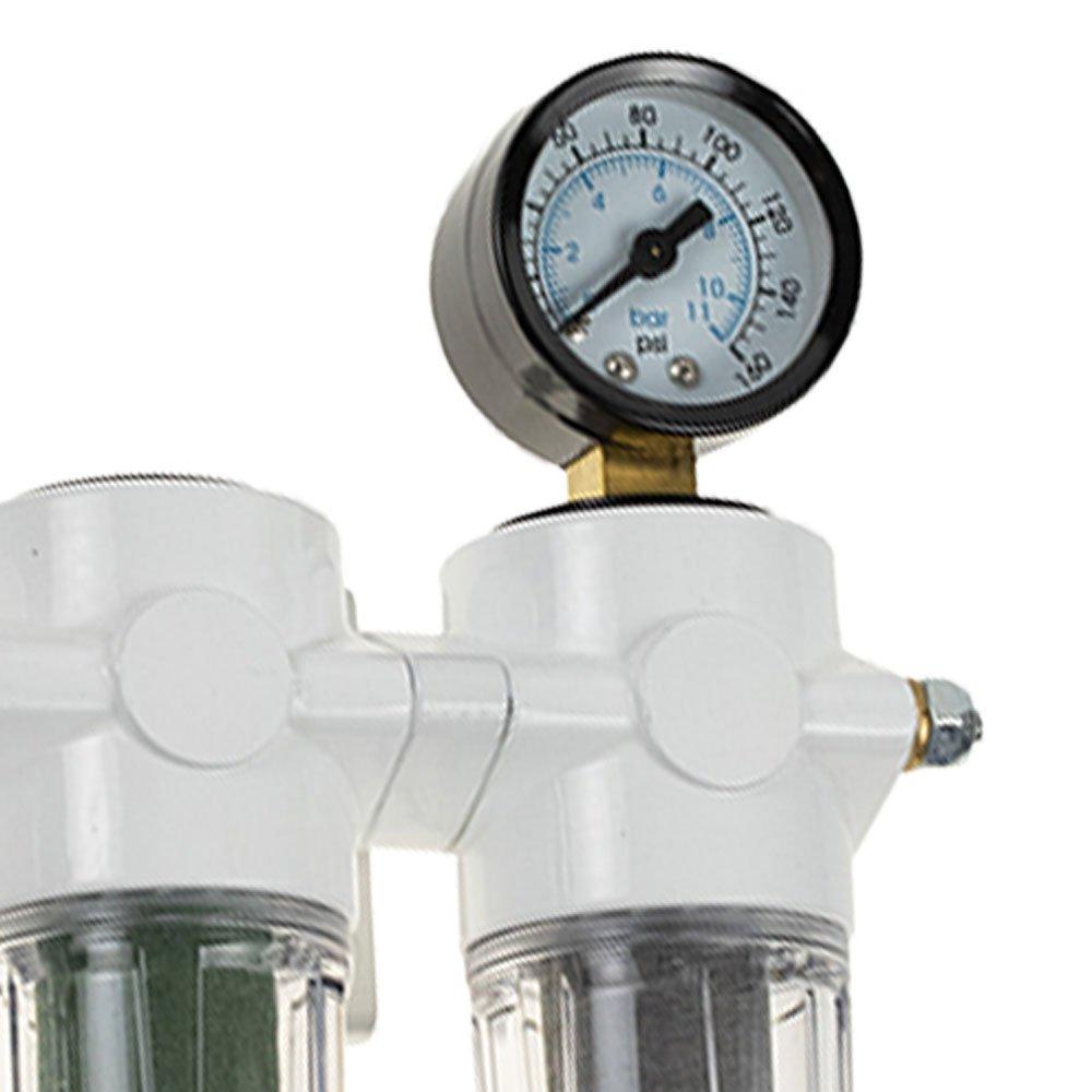 Conjunto Odonto de Preparação de Ar Comprimido Mini 1/4Pol. - Imagem zoom