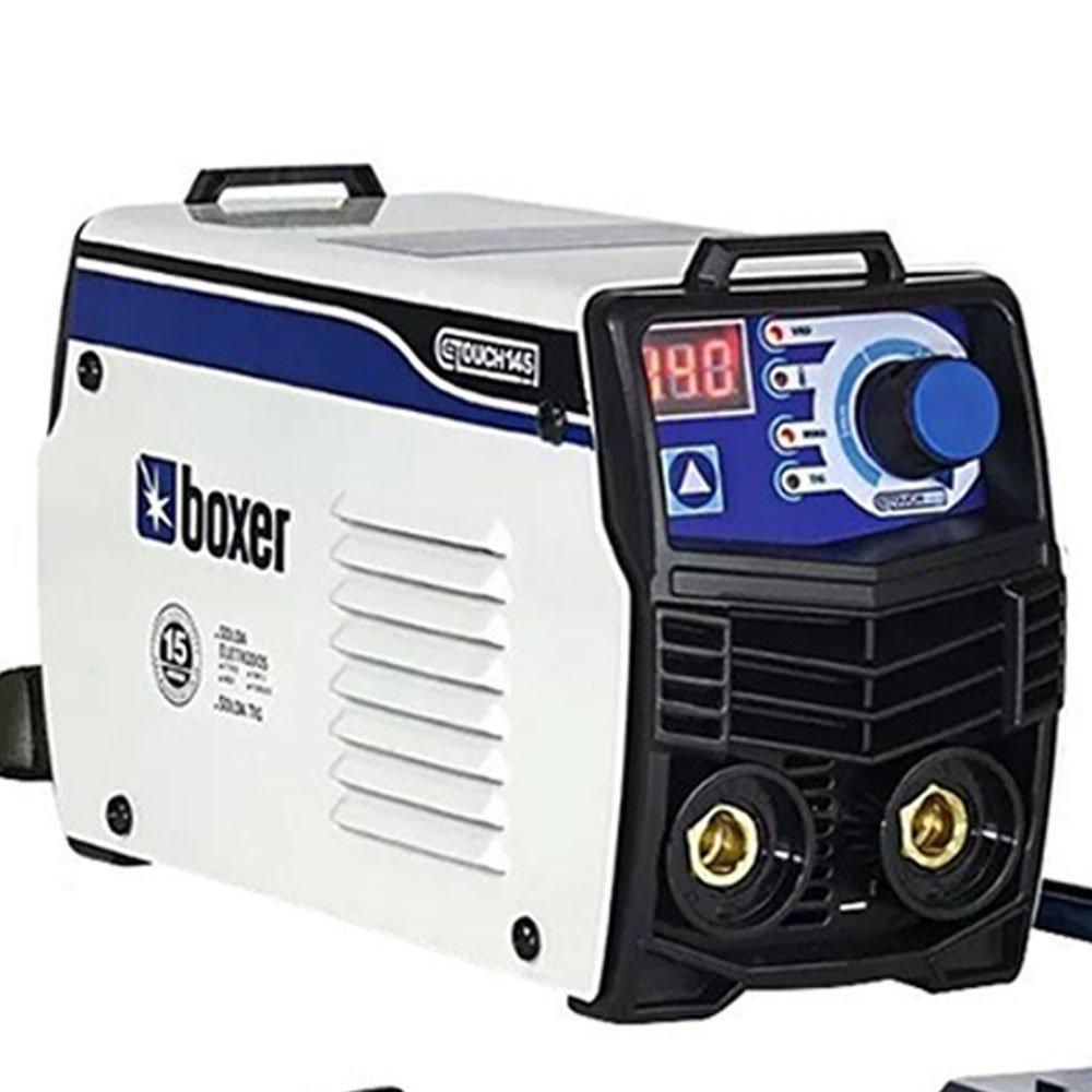 Kit Máquina de Solda Inversora Touch 145 Boxer 1510026 + Máscara de Solda Titanium 5242 - Imagem zoom