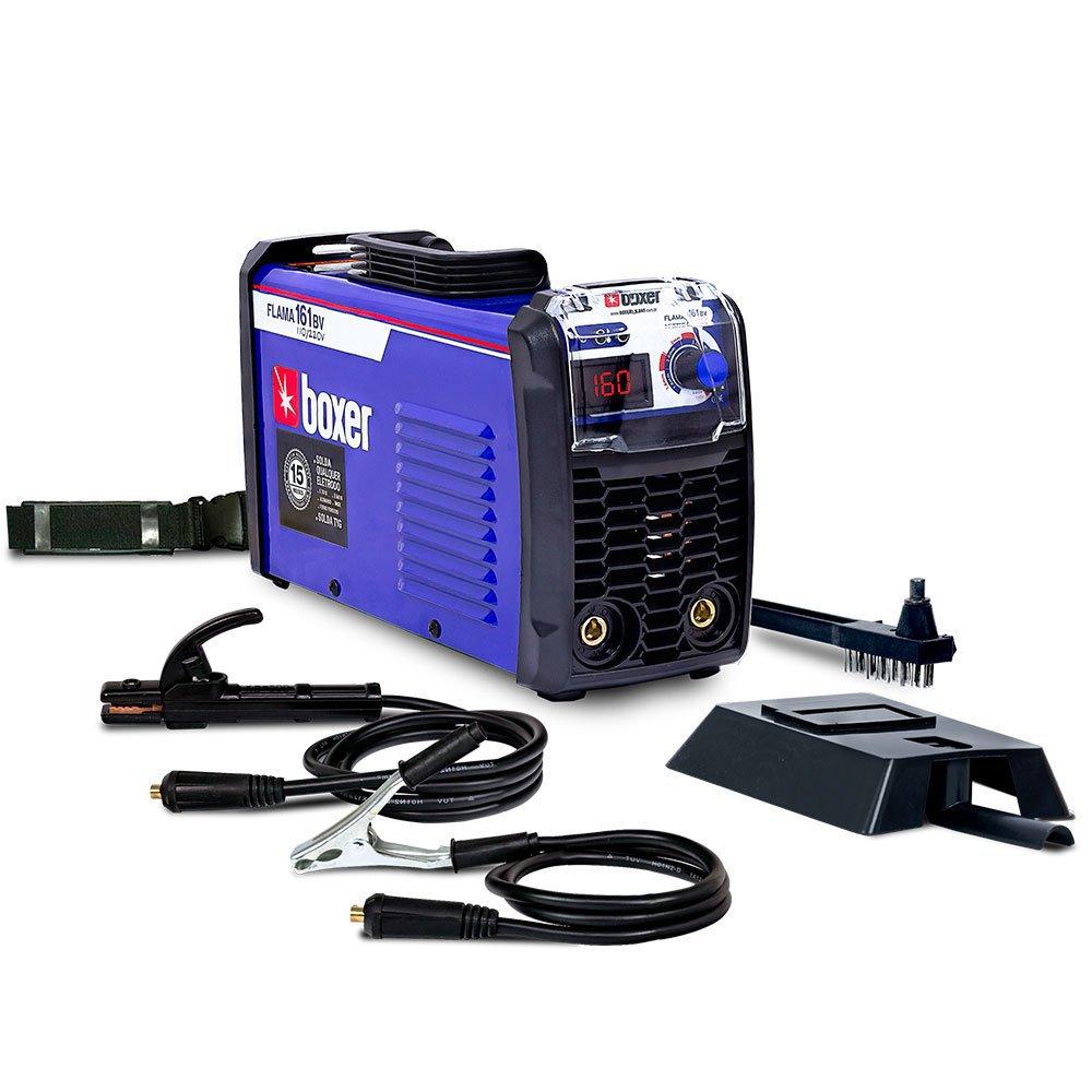 Kit Máquina de Solda Inversora Boxer FLAMA161BV 160A + Máscara de Solda Titanium 5242 - Imagem zoom