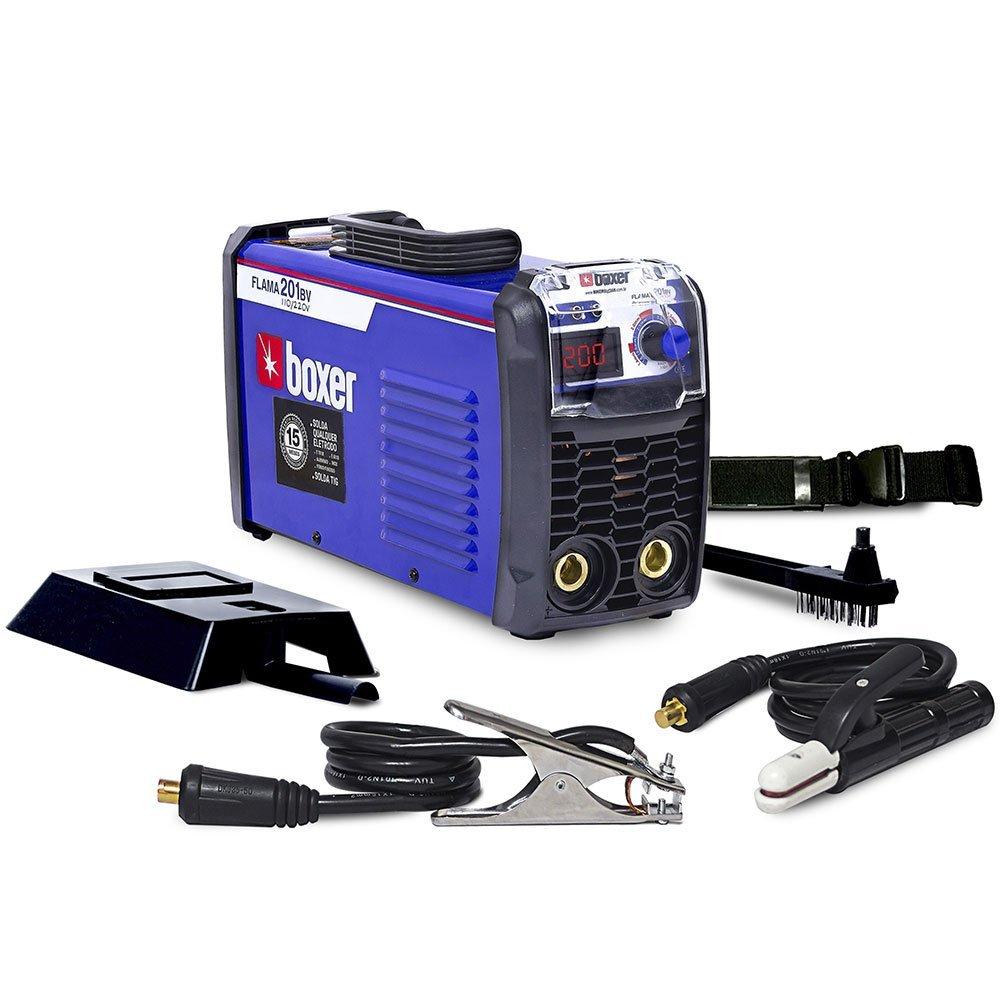 Kit Máquina Inversora de Solda Boxer 1005021 Tig Flama 201BV 200A + Máscara de Solda Titanium 5242 - Imagem zoom