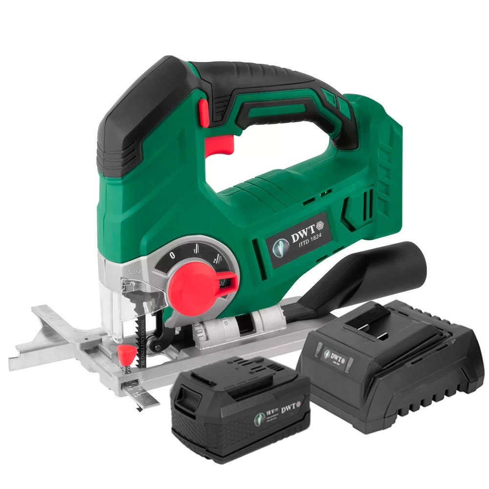 Kit Serra Tico-Tico DWT-6014182400 18V + Bateria DWT-6014180400 + Carregador DWT-6014180500 - Imagem zoom