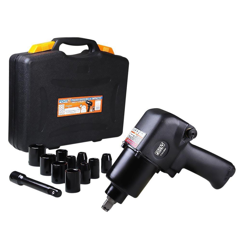 Kit Compressor de Ar PRESSURE-8975703011 10 Pés + Jogo Chave Parafusadeira de Impacto FORTGPRO-FG3300.13  13 Peças  - Imagem zoom