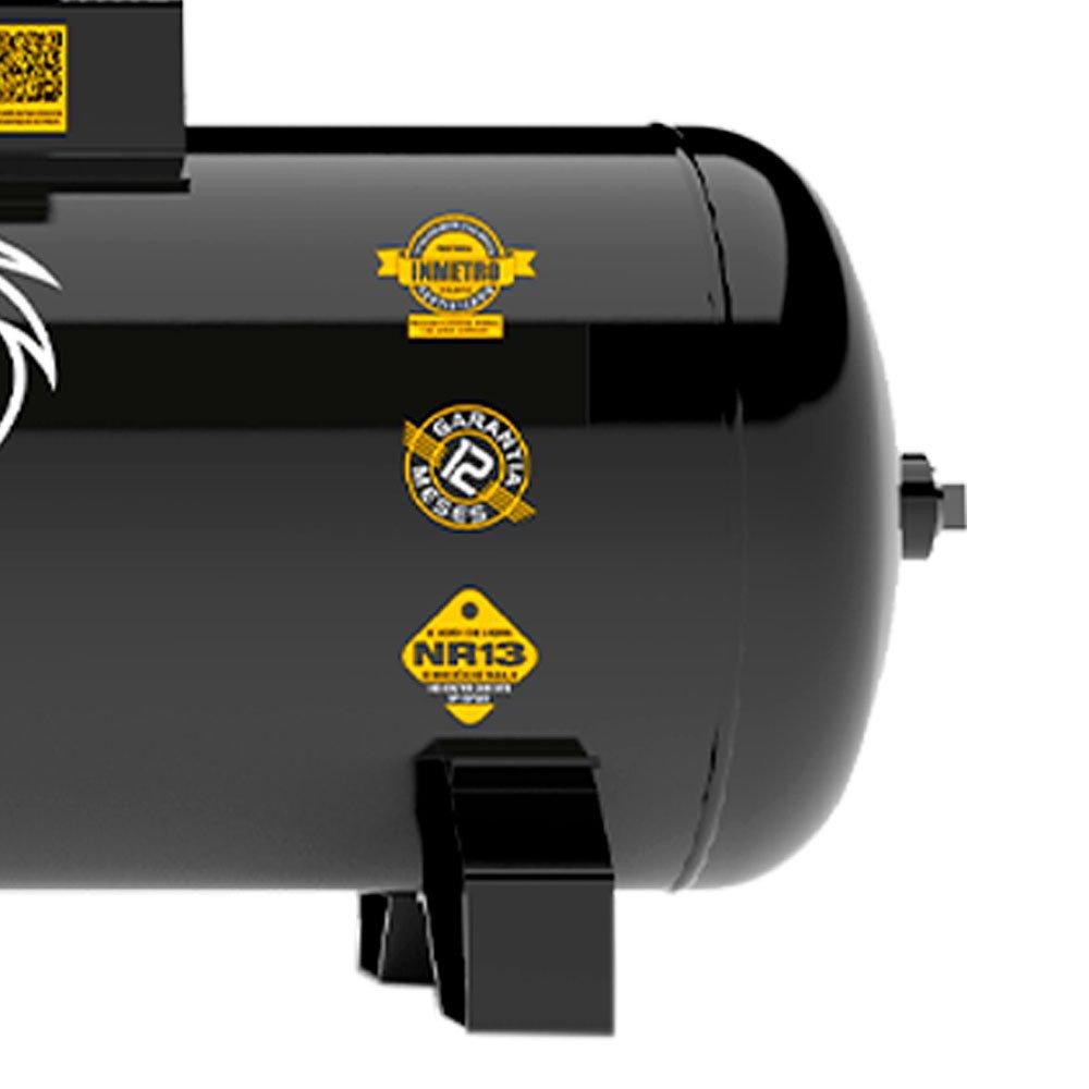 Compressor de Ar Trifásico Alta Pressão Industrial 20 Pés 200 Litros 220/380 V Storm 600HP - Imagem zoom