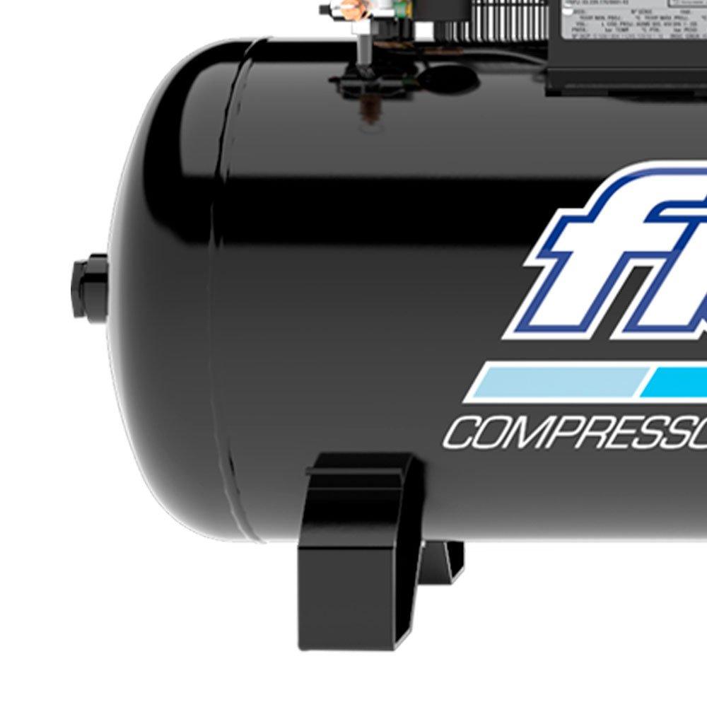Compressor de Ar 20 Pés 5HP 200 Litros Alta Pressão Industrial 175 PSI Trifásico 220/380V - Imagem zoom