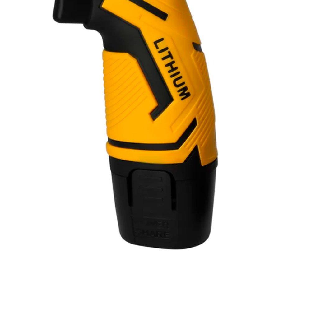 Kit Parafusadeira/Furadeira LITH LT7035 12V 1.5Ah + 6 Álcool em Gel NUTRIEX 64311 Isopropílico 70% - Imagem zoom