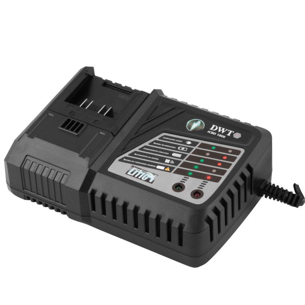 Kit Parafusadeira/Furadeira DWT-6014182000 18V + Carregador DWT-6014180600 + Bateria Íons de Lítio DWT-6014180200 - Imagem zoom