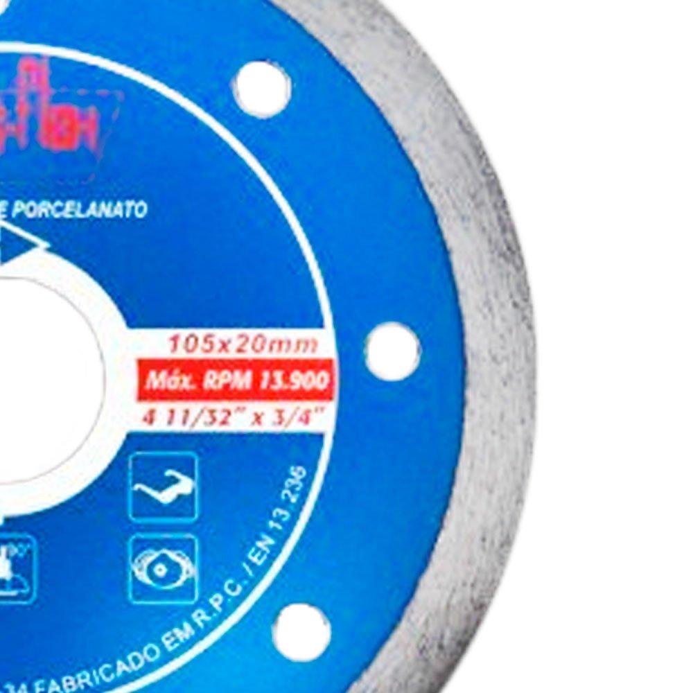 Disco Diamantado Contínuo Performance 110 x 20 mm com Bucha de 15,8mm - Imagem zoom
