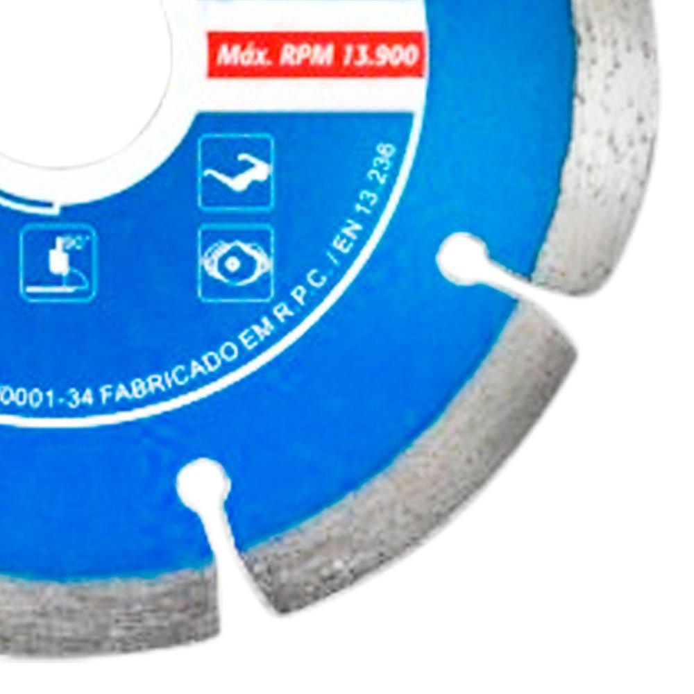 Disco Diamantado Segmentado 4.3/4 x 3/4 Pol. Prata - Imagem zoom