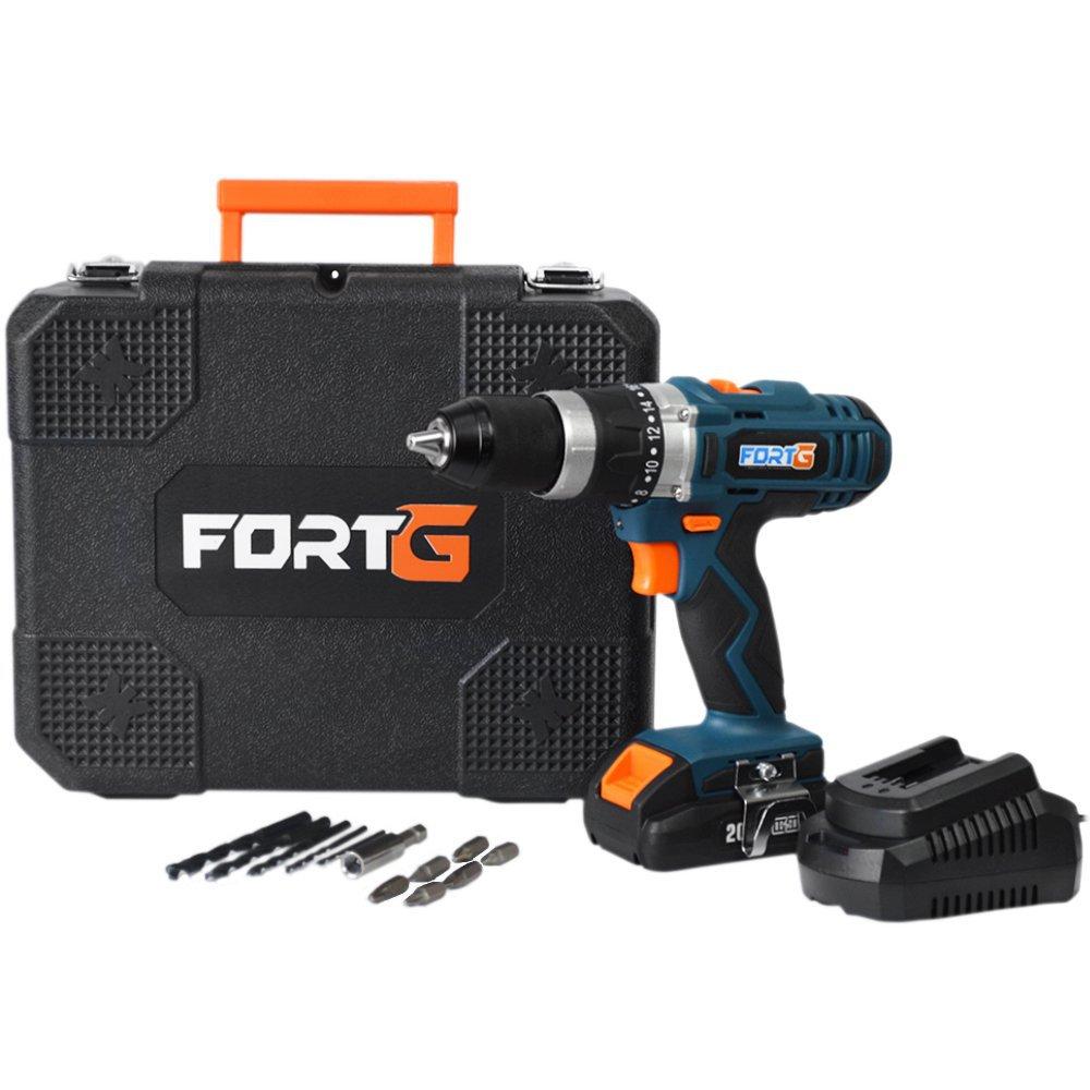 Kit Parafusadeira FORTG-FG3000 1/2 Pol. 20V com Maleta e Carregador + Bateria FORTG-FG3441 20V 2Ah - Imagem zoom
