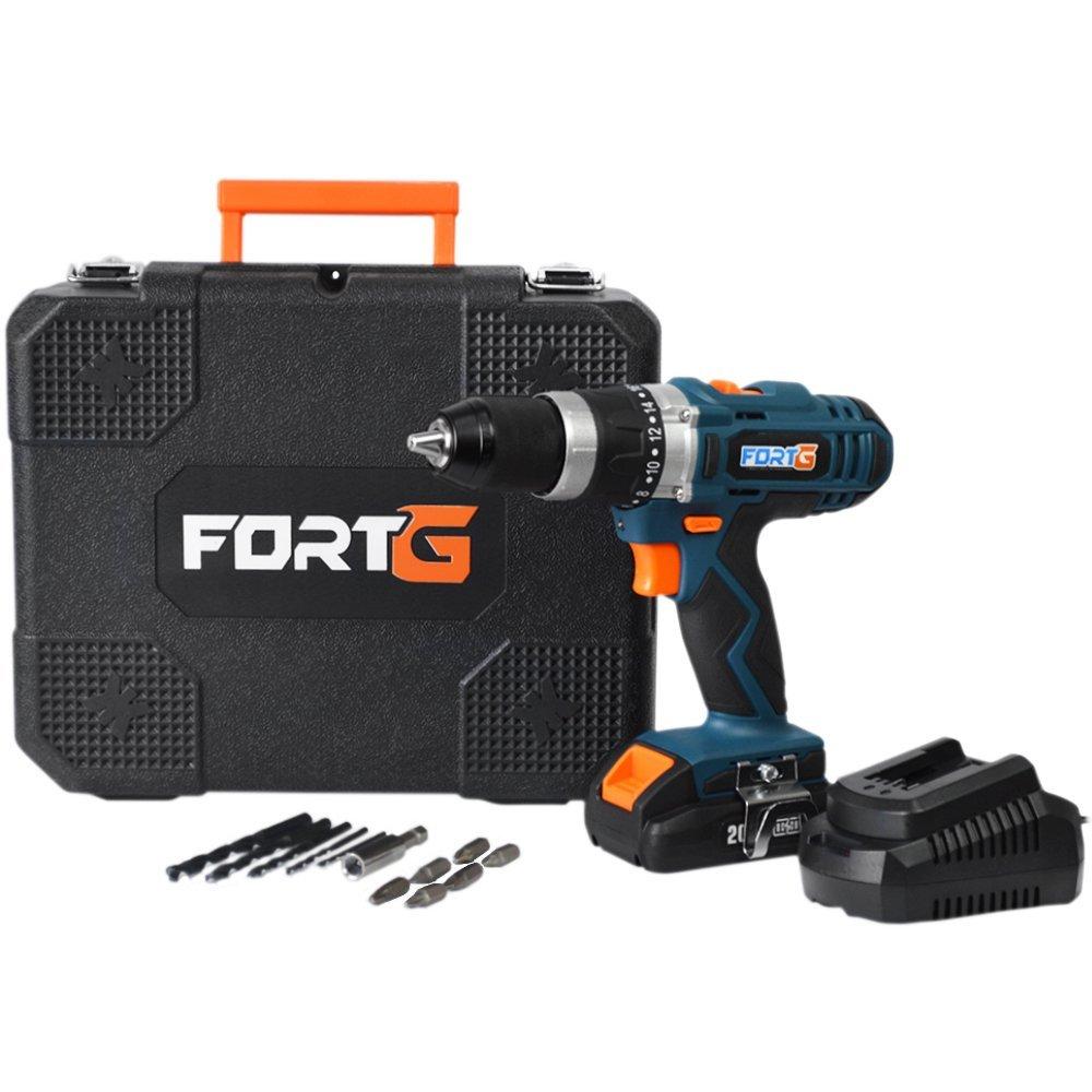 Kit Parafusadeira FORTG-FG3000 1/2 Pol. 20V com Maleta e Carregador + Bateria FORTG-FG3439 20V 1.3Ah - Imagem zoom