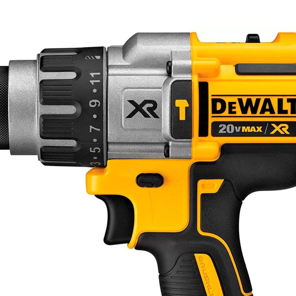 Kit Parafusadeira/Furadeira Impacto DEWALT-DCD996B 20V Max Li-Ion 95Nm 1/2 Pol. Brushless + 2 Baterias DEWALT-DCB207-B3 20V Max Compact 1,3 Ah - Imagem zoom