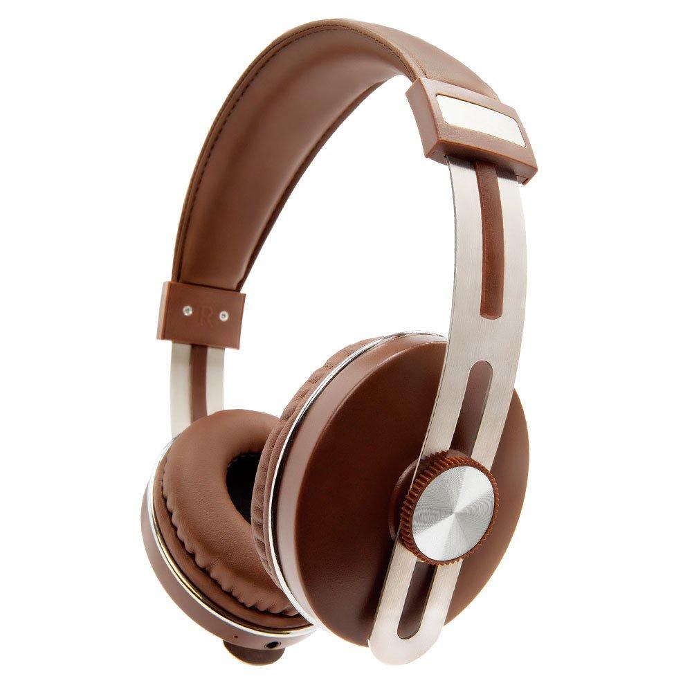 Fones de Ouvidos Over Ear sem Fio 3W Marrom - Imagem zoom