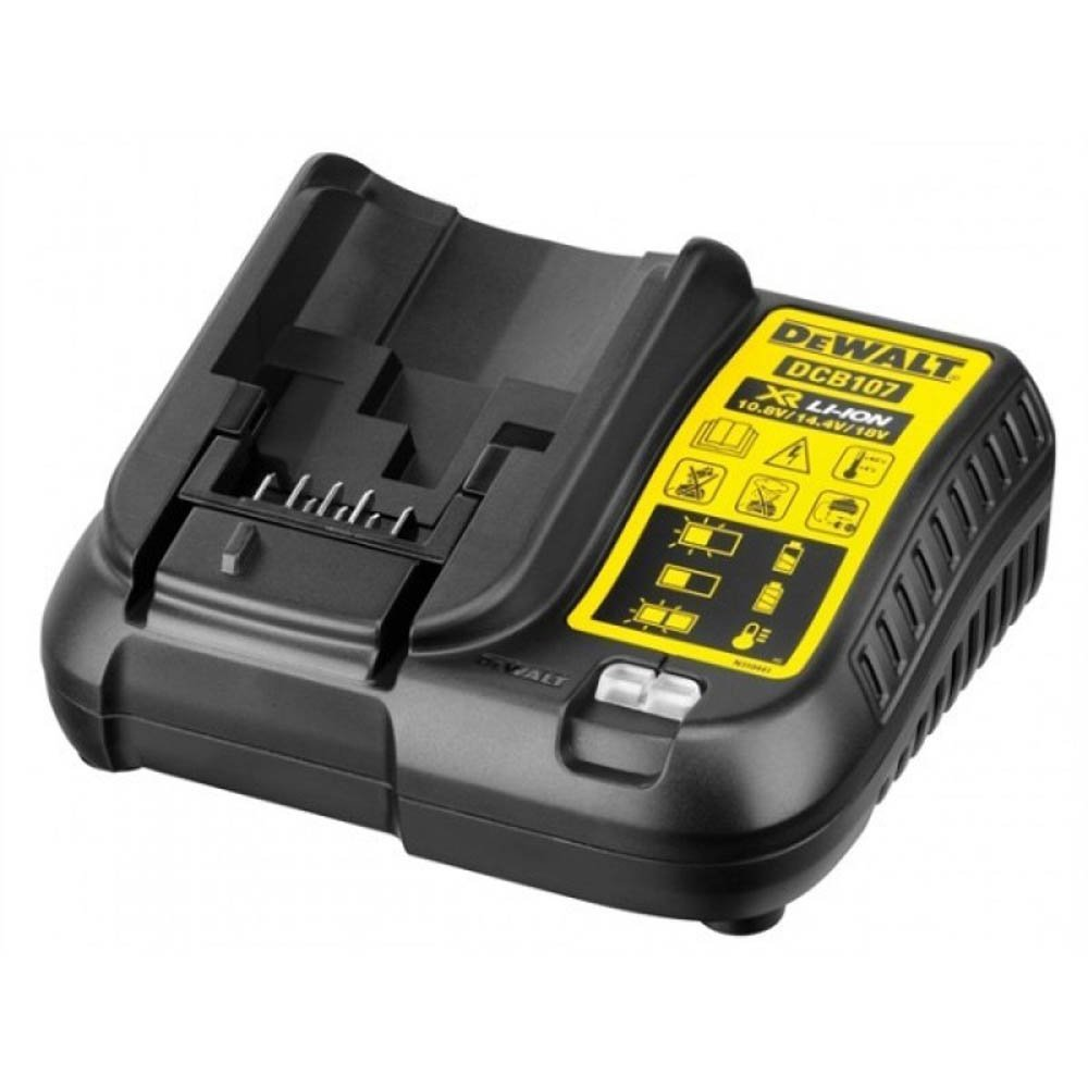 Kit 1 Soprador Térmico 20V MAX DEWALT-DCE530B + 1 Bateria 20V Max DEWALT-DCB207-B3 + 1 Carregador 12V a 20V Bivolt - DEWALT-DCB107 - Imagem zoom