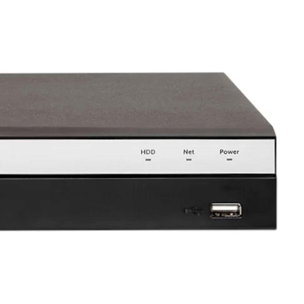 Kit Gravador Digital de Vídeo Multi HD 8 Canais BNC + 4 Canais - INTELBRAS-4580331 + 2 canais - INTELBRAS-4580330 + Câmera Infra HDCVI 3,6mm 20mm - INTELBRAS-4565303 - Imagem zoom