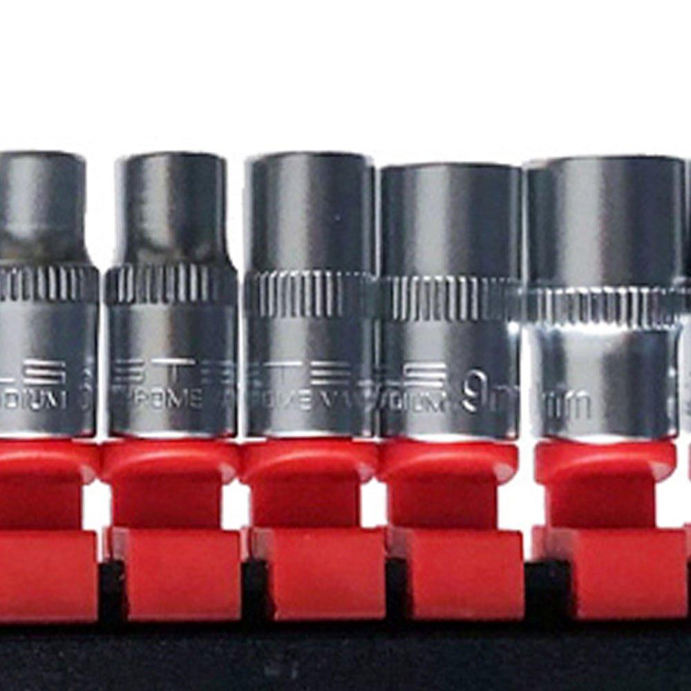 Jogo de Soquete Estriado 1/4 Pol. com 10 Peças - Imagem zoom