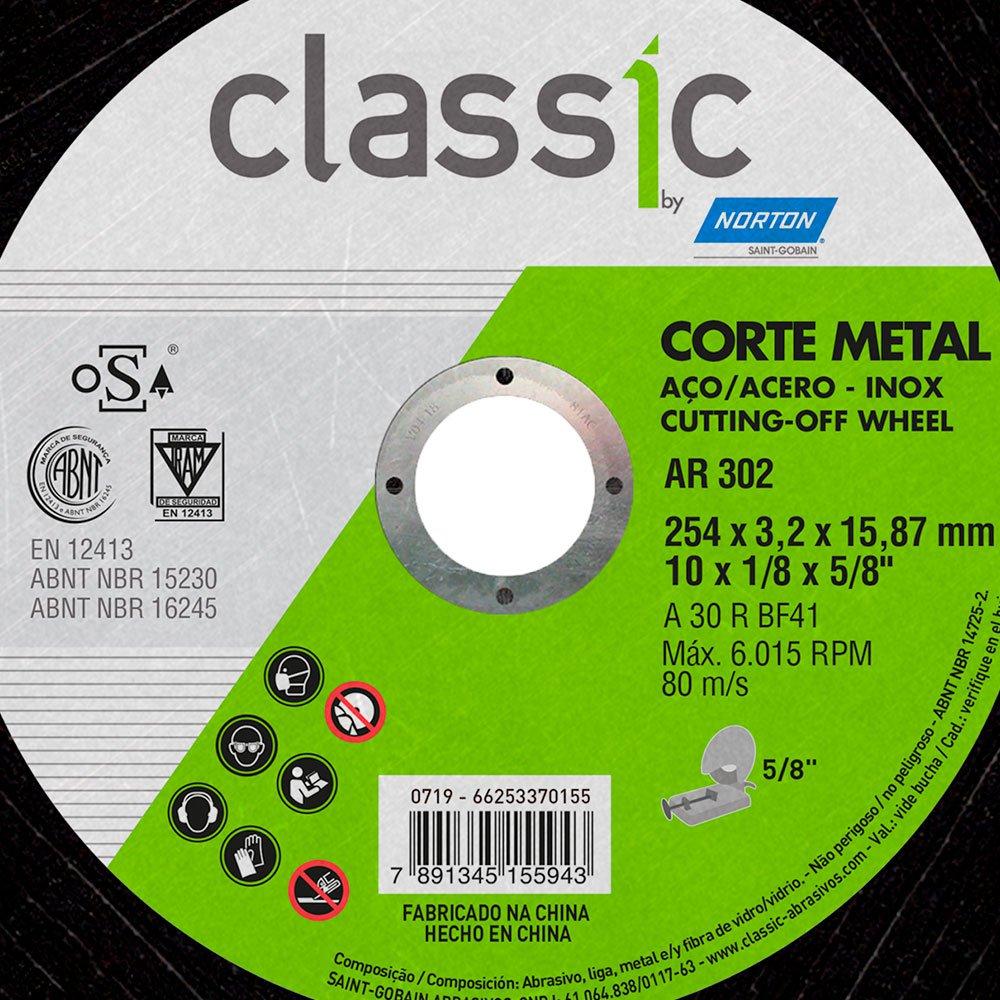 Disco de Corte Classic 254 x 3,2 x 15,87mm para Metal - Imagem zoom