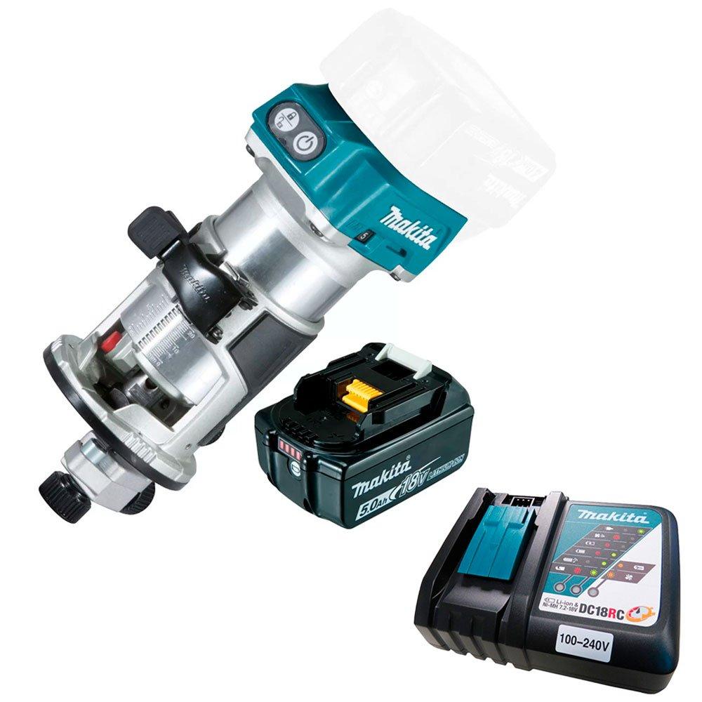Kit Tupia Profissional 6 e 8mm com Bateria 18V 5A -MAKITA-DRT50ZP + Carregador Rápido de Bateria 18V e 14.4V de Íons Lítio Bivolt - MAKITA-197522-0 - Imagem zoom