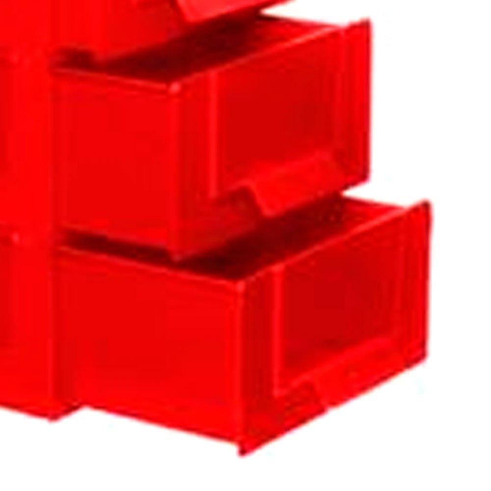 Gaveteiro com 3 Gavetas e 15 Divisórias Vermelho - Imagem zoom