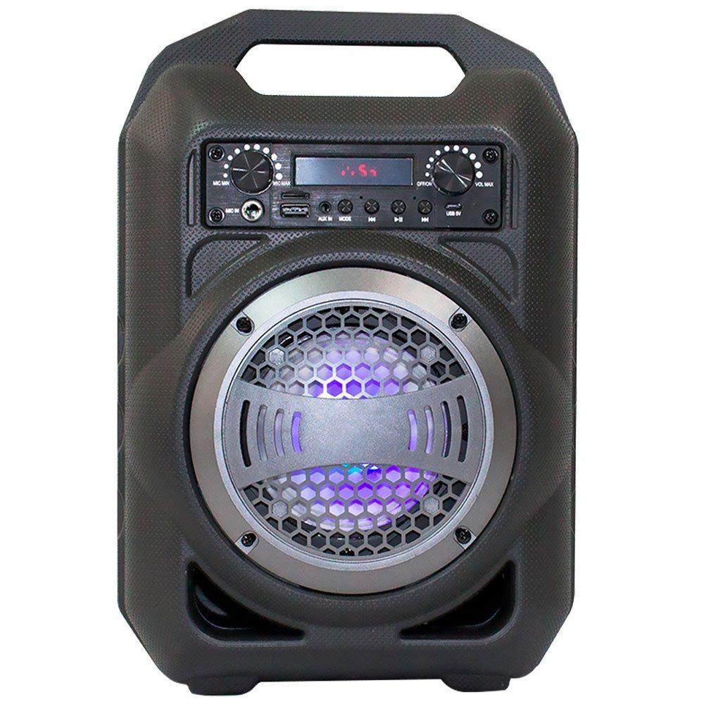 Caixa de Som Portátil Cinza 30W com Bluetooth a Bateria - Imagem zoom