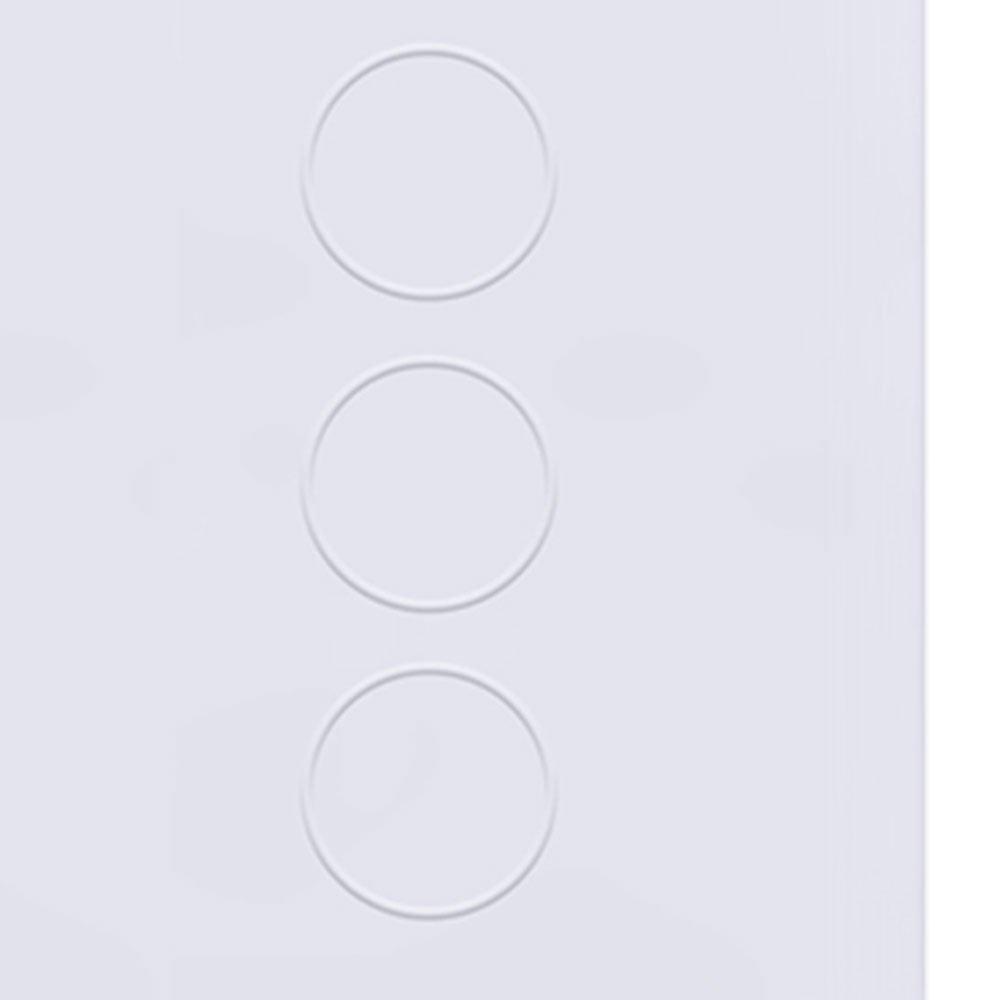 Interruptor Touch Glass em Acrílico Branco com 6 Botões - Imagem zoom