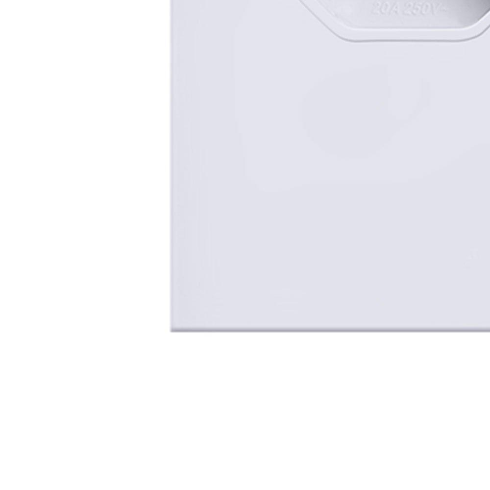 Tomada Simples em Acrílico Branco 10A / 20A - Imagem zoom