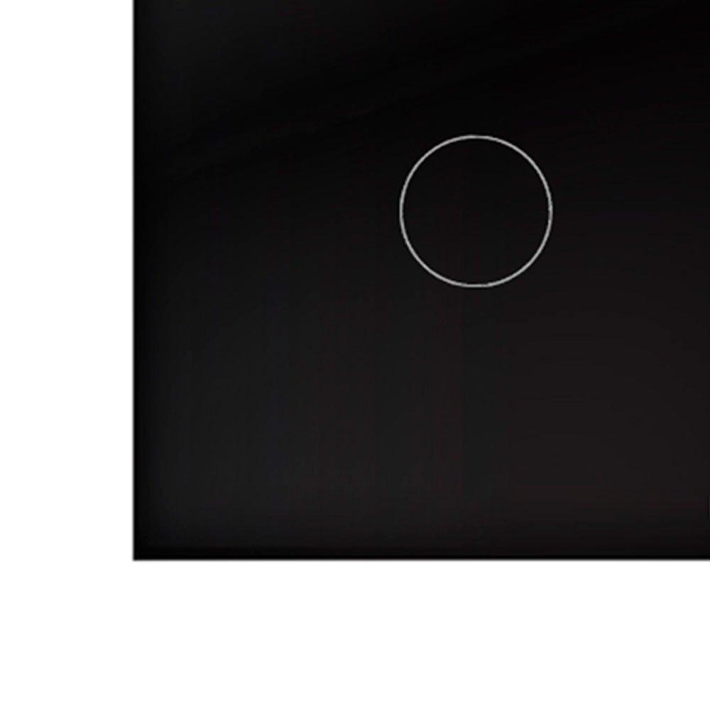 Interruptor Touch Glass em Acrílico Preto com 2 Botões - Imagem zoom