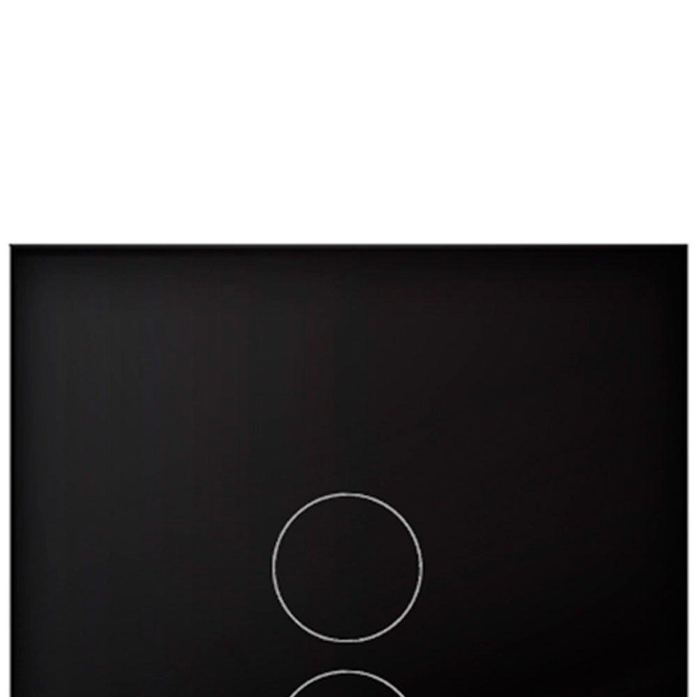 Interruptor Touch Glass em Acrílico Preto com 3 Botões - Imagem zoom