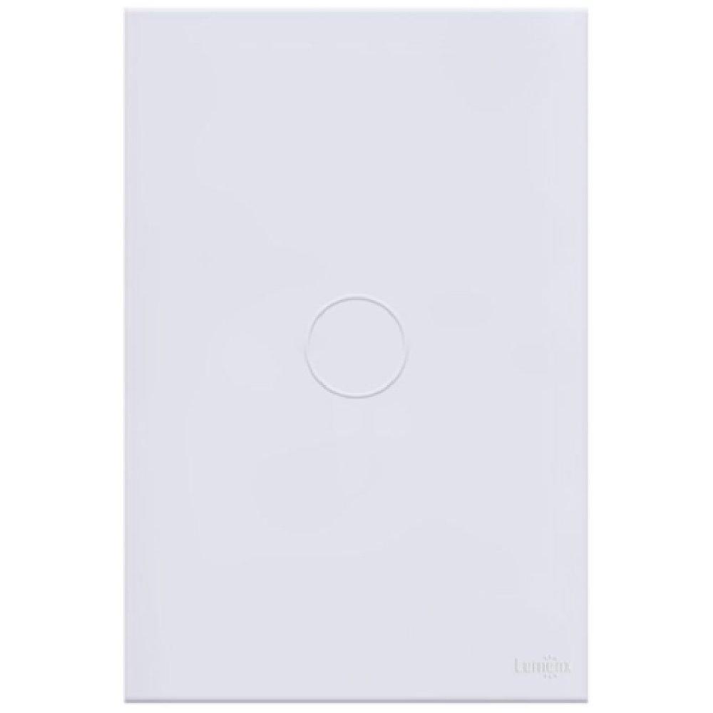 Interruptor Touch Glass Pulsador de Campainha em Acrílico Branco - Imagem zoom