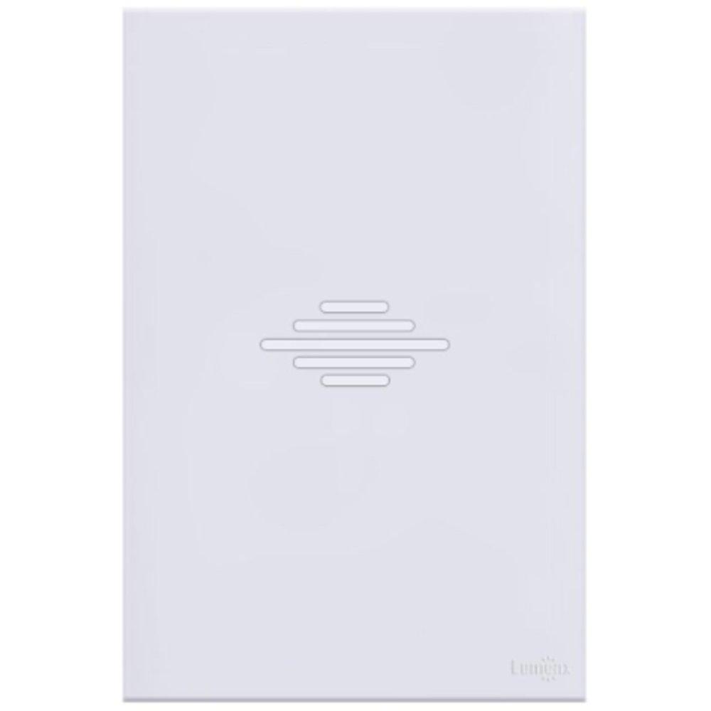 Campainha Musical/Bitonal Glass em Acrílico Branco 4 x 2  - Imagem zoom