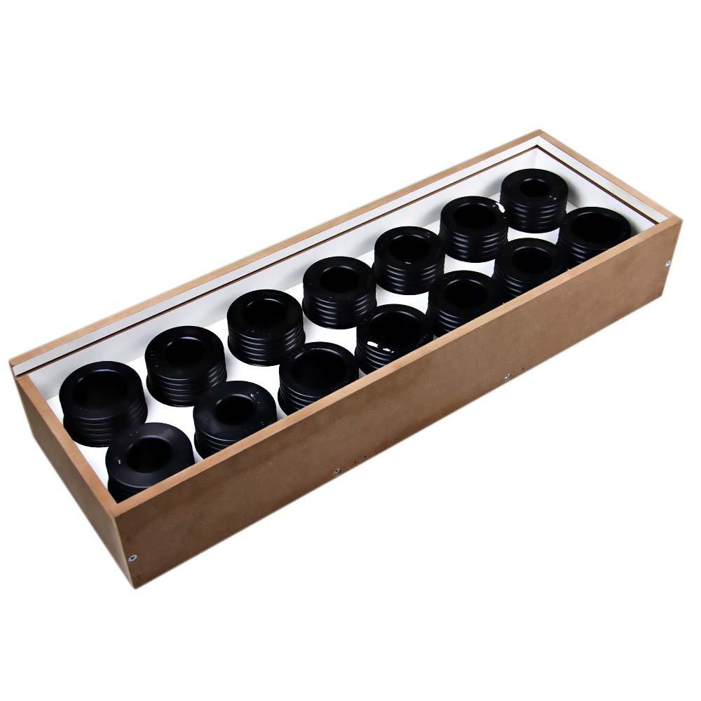Jogo de Ferramentas P/ Instalar e Guiar Retentores de Bengala P/ Motos com 14 Peças - Imagem zoom